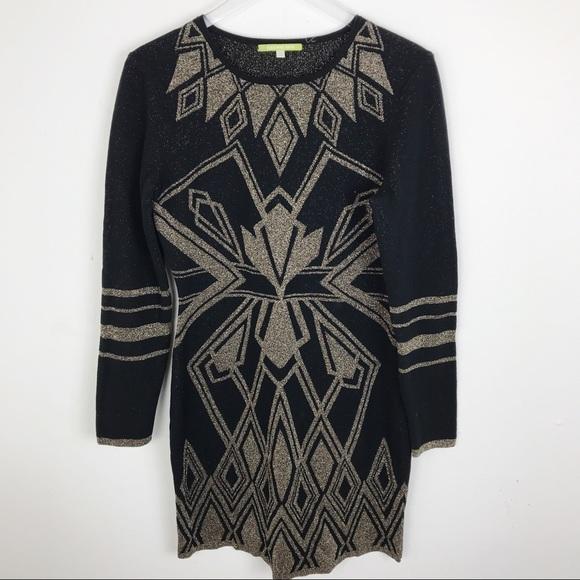 00c99f9281 Gianni Bini Dresses   Skirts - Gianni Bini Body Con Sweater Dress Gold  Holiday LG